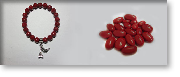 Red Coral Gemstones By Crystal Passion