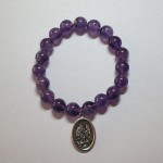 Amethyst Bracelet with Charms