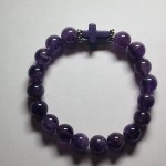 Amethyst Bracelet with Cross by A Crystal Passion