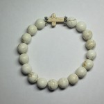 White Howlite Bracelet with Cross by A Crystal Passion