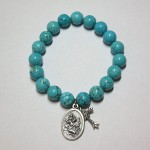 Blue Howlite Bracelet with Charms