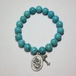 Blue Howlite Bracelet with Charms