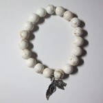 White Howlite Bracelet with Charms