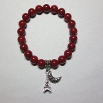 Red Coral Bracelet with Charms