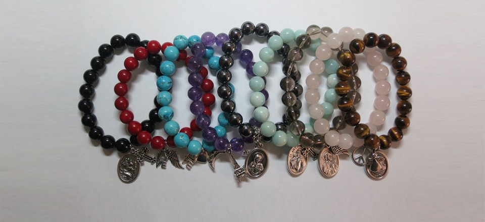 Adult Crystal Bracelets with Charms