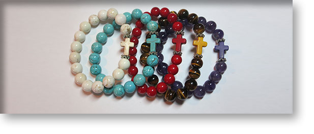 Bracelets with Cross by A Crystal Passion