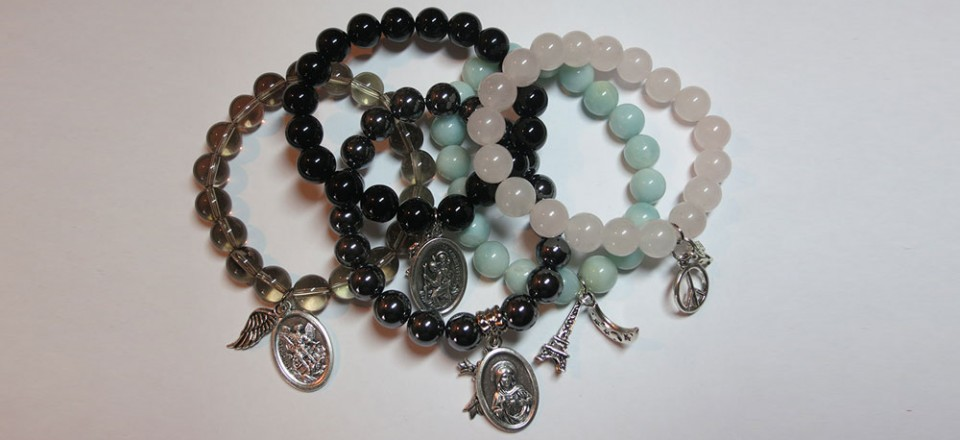 Childrens Crystal Bracelets with Charms