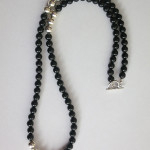 Black Agate Long Gemstone Necklace