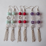 Long Gemstone Earrings by A Crystal Passion