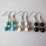 Short Gemstone Earrings by A Crystal Passion