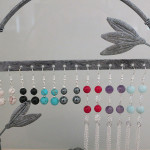 Gemstone Earrings on Stand by A Crystal Passion