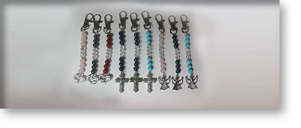Gemstone Keyrings by A Crystal Passion