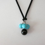 Blue Howlite Angel Necklace by A Crystal Passion