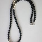 Black Agate Long Gemstone Necklace