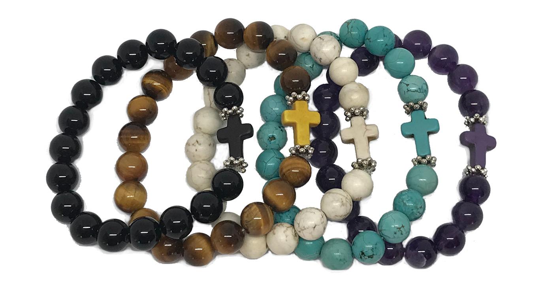 adult cross bracelets