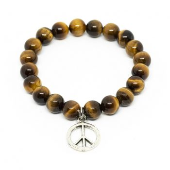 Tiger Eye Bracelet with Charms