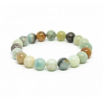 Coloured Amazonite Bracelet with Charm