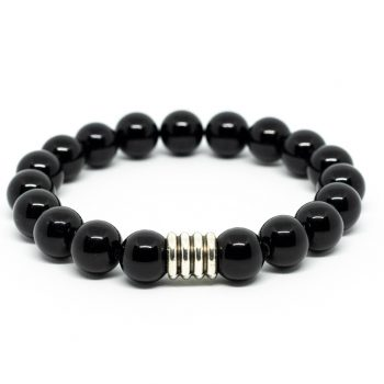 Black Agate Male Bracelet by A Crystal Passion
