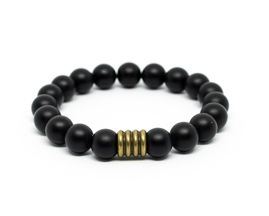 Matt Black Male Bracelet by A Crystal Passion