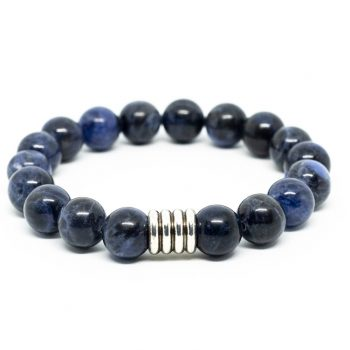 Sodalite Male Bracelet by A Crystal Passion
